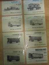(D8/6) Märklin Betriebsanleitungen Bausatzwagen 4917 4920 4918 4802 4950 4633