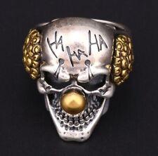 Totenkopf Ring Horror Clown - Skull Edelstahl - Biker Rocker Punk Gothic