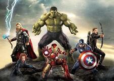 Cartel de Los Vengadores Marvel Iron Man Thor Hulk Capitán América Foto de Impresión A3 A4