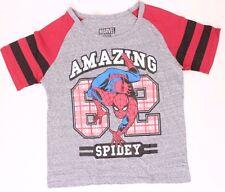 Marvel Amazing Spider-Man Women Lady Light Grey T-shirt Top Tee Sizes S M L XL