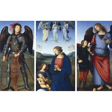 Three Panels from an Altarpiece - P Perugino Print