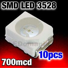 135/10# LED Rouge CMS 3528  PLCC-2 SMD red 10pcs   ----- 700mcd  - TL