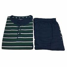 GUASCH pigiama uomo righe blu/verde con bordo 100% cotone GP181 D.463