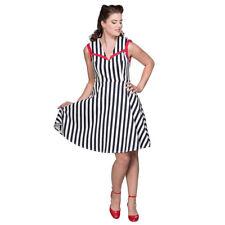 Banned Retro Rockabilly Vintage Swing Kleid Sommerkleid - Land Ahoy Gestreift