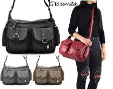 Borsa tracolla donna capiente spalla multi tasche comoda moda passeggio casual