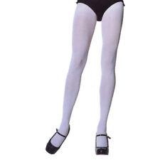 Leg Avenue 7666 Tights Opaque Solid Nylon Spandex One Size Plus 1X Queen White