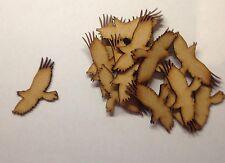 10x Wooden Crow Bird Craft Shapes laser cut 3mm mdf Wildlife Halloween