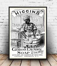 Higgins German Soap, Vintage Newspaper advert Reproduction poster, Wall art.