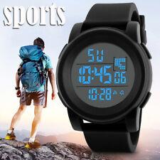 Reloj de Pulsera Casual Hombres Digital LED Deporte Impermeable Regalo de trabajo de viaje militar