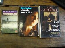 lot de 3 livres de marie cardinal
