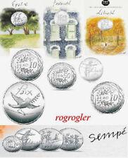 Série 10 euro Valeurs la Rèpublique argent cartelette SEMPE 2014 + 50 euro paix