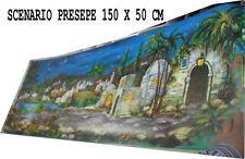 SCENARIO PRESEPE 150X50 CM  minuterie NATALE S.GREGORIO ARMENO