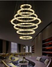 2/4/5/7/9 rings LED crystal pendant light Living Room stairs chandelier Customsi
