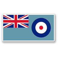 2 x 10cm RAF Flag Vinyl Sticker Decal Roundel Air Force Flag Union Jack #5682