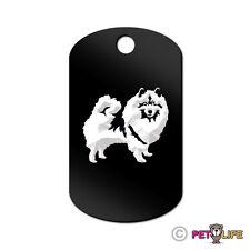 Keeshond Engraved Keychain Gi Tag dog kees Many Colors