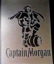 Morgan RUM Reutilizable Aerografía Stencil Bar Restaurant Decoración De Pared Pintura