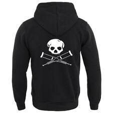 Skull and Cross Ossa STAMPELLE Logo Felpa con cappuccio, stile JACKASS, divertenti Felpe con Cappuccio, Nuovo