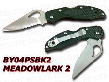 Spyderco Byrd Meadowlark 2 FRN Combo Edge BY04PSBK2 NEW