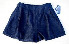 Angie FAB! Black Beautiful Dressy Lace Shorts Pleated Choose Size BNWT