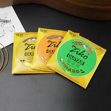 De alta calidad de latón Ziko Cuerdas Guitarra Acústica 4 X indicadores disponibles de Reino Unido Envío