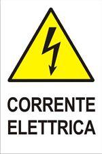 CORRENTE ELETTRICA - B 092 Cartello Segnaletico in Vinile Adesivo
