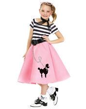 Black Pink Poodle Skirt Soda Shop Sweetie Child Costume