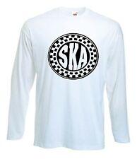 SKA LONG SLEEVE T-SHIRT - 2 Tone Mod Specials Madness Skinhead Rude Boy - S-XXL