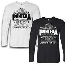 Pantera Stronger Than All Longsleeve T shirt BLACK WHITE S-5XL