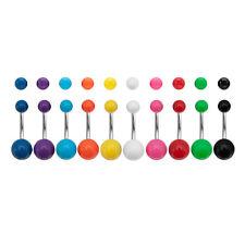 Nabel Piercing 1,6 mm stecker stahl kugel acryl 5 und 8 mm