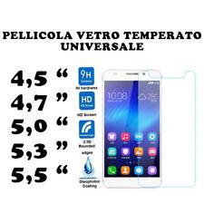 PELLICOLA VETRO TEMPERATO UNIVERSALE PER SMARTPHONE PROTEGGI SCHERMO SAMSUNG