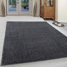 Teppich Kurzflor Modern Wohnzimmer Einfarbig Meliert Uni Preishammer Grau