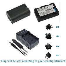 2/1 X Battery /Charger for Panasonic CGR-D08S CGR-D08 D14S CGR-D120 Camcorder