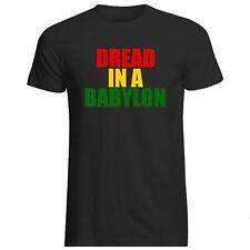 Miedo en una Babilonia T-Shirt Todos Las Tallas + Cols (Gildan Reggae Dub U-Jah Rasta)