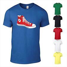 T-Shirt Turnschuh Converse 70er 80er 90er Jugend Kult Cool Schuh bedruckt