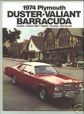 1974 Plymouth Duster/Valiant/Barracuda Sales Catalog