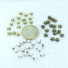 2804a5ad6078 200 Entrepiezas Estrellas 5mm A Elegir Plata Tibetana Cobre Dorado Spacer  Beads