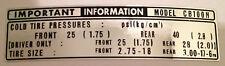 Honda CB100 CB100N Calcomanía Etiqueta de advertencia de precaución del neumático
