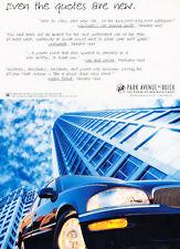 1997 Buick Park Avenue - blue - Classic Vintage Advertisement Ad H41