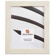 "Craig Frames Bauhaus, 1.25"" Modern Rustic White Pine Picture Frame"