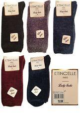 Etincelle 5 chaussettes d'hiver chaude ultra doux coloris foncé