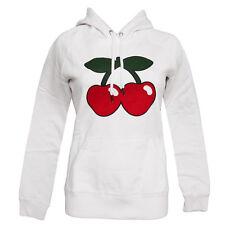 OFFICIAL Pacha Ibiza Women's Hoodie Basic Cherry Logo Sweater WHITE RRP £90