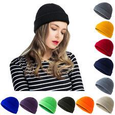 Unisex Winter Knitted Melon Cap Beanie Hat Skullcap Crochet Retro Warm Ski