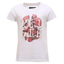 2025S maglia Bimba Woolrich Flor BIANCO/ROSA T-shirt niño