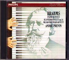 Andre PREVIN: BRAHMS Piano Quintet Op.34 MUSIKVEREINSQUARTETT CD Philips 1985