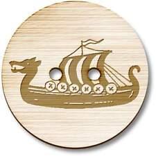 'Viking Ship' Wooden Buttons (BT025443)