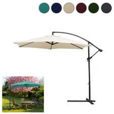 3m Parasol de jardin anti-UV pare-soleil crème solaire Patio Couleur au choix
