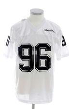 Scarcewear Hommes Blanc NFL Jersey Football Américain RARE 96 Silky résille T-Shirt