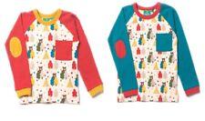 Little Green Radicals Organic Raglan T shirt top 4 5 6 7 8  bear red blue
