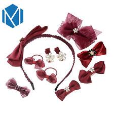 10Pcs/Set Kids Baby Girl Bow Hair Clips Flower Barrette Pins Gift UK Stock