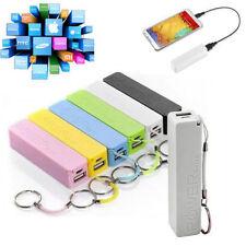 Powerbank Akku Extern 18650 USB Ladegerät Universal Smartphone Power Bank 6Farbe